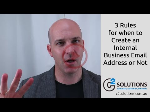 3 Rules For When to Create an Internal Business Email Address or Not