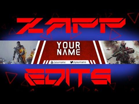 Free COD & Battlefield Banner Template Download! (Photoshop)