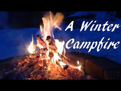 A Winter Campfire