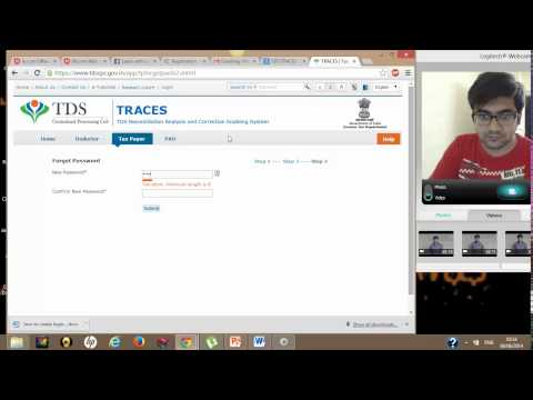2(Learn TDS & TCS Filing)How to reset password for TRACES Login
