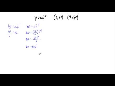 Writing equations as y=ab^x