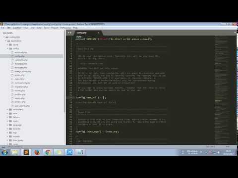 cara setting base url dinamis pada framework codeigniter