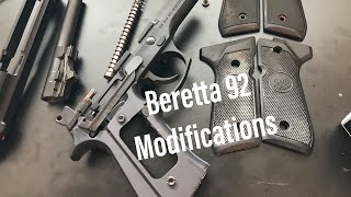 Beretta 92FS and PX4 D spring installation before and after