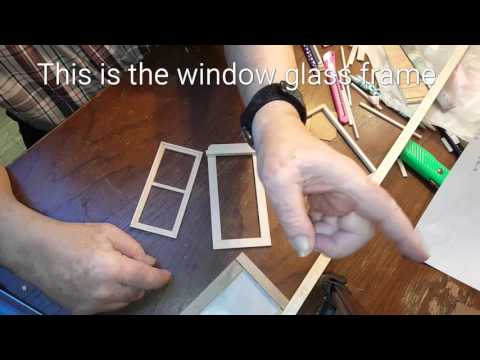 DIY Miniature Dollhouse Window Build