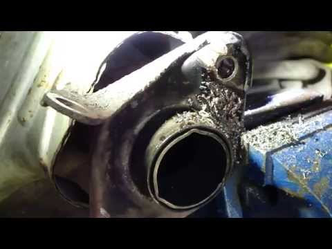 How to fix exhaust manifold broken and rusty bolt. Cut, drill and install new bolt.
