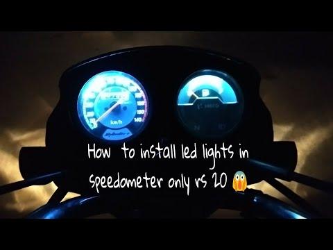 How to install led lights in speedometer of splendor & all bikes { must watch } from splendor lovers