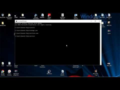 Handle Control Panel, Services, Task Manager..etc with Command Prompt