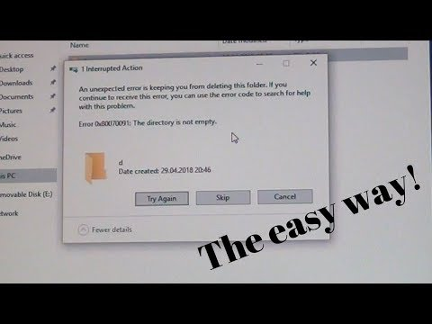 How to fix Error 0x80070091: The directory is not empty. - The easy way!