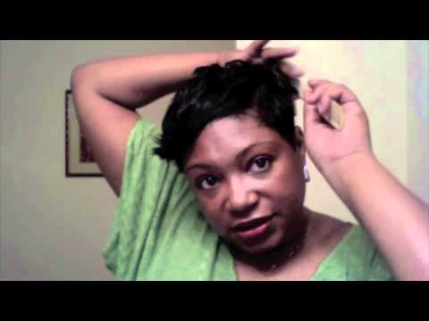 Short Hair Tutorial: How to style my short black hair - Front Flips