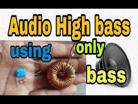 Make speaker louder bass and high bass subwoofer using PF capacitor and  coil (100% working 'korba')