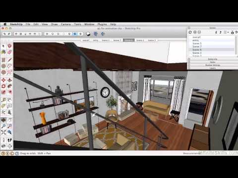 SketchUP 2013 Tutorial | Scenes For Animation
