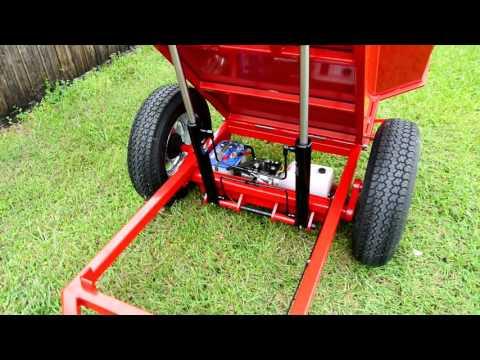 Custom Garden Red Dump Trailer