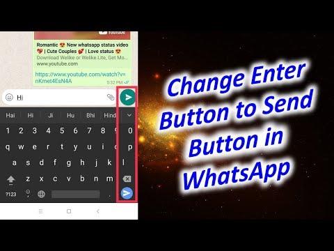 Change Enter Button to Send Button in WhatsApp