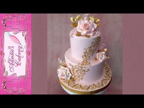 Wedding cake-Little Golden Scrolls