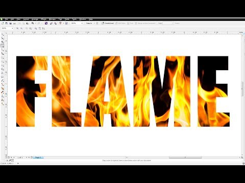 CorelDRAW X6 Tutorial : How to place a photo inside of text