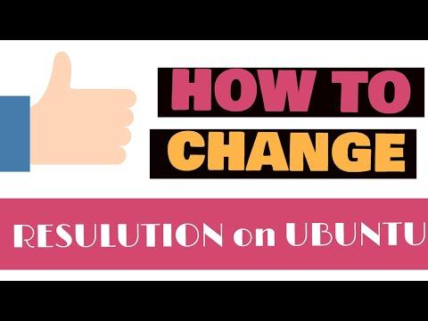 Changing Ubuntu Screen Resolution in a Hyper V VM