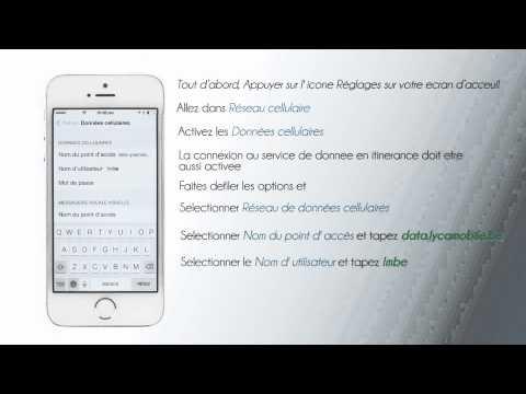 Lycamobile Belgique - Configuration de l'internet pour iPhone