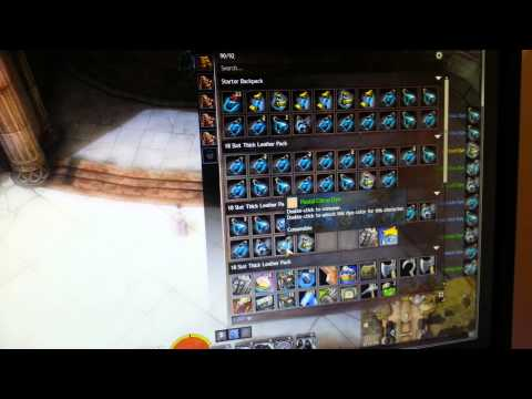 guild wars 2 - opening up 100+ Unidentified dyes