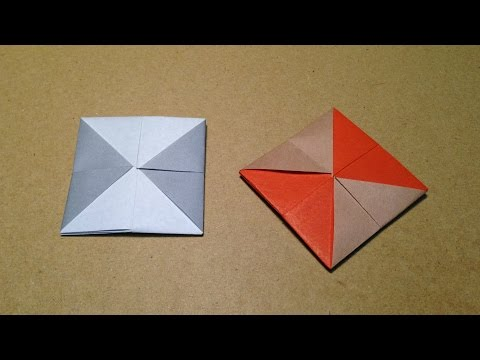 Origami Coaster with One Sheet of Paper / Instructions / Tutorial