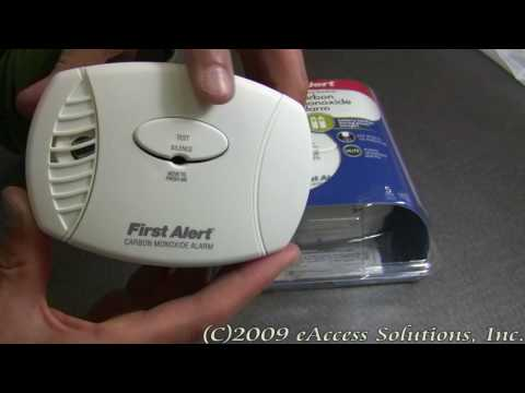 First Alert Carbon Monoxide Alarm explanation and un-boxing video