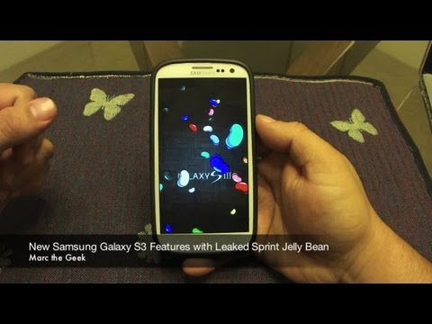New Samsung Galaxy S3 Features with Leaked Sprint Jelly Bean