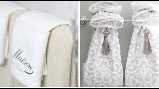 BATHROOM DECORATING IDEA -  DECORATIVE TOWEL FOLDING