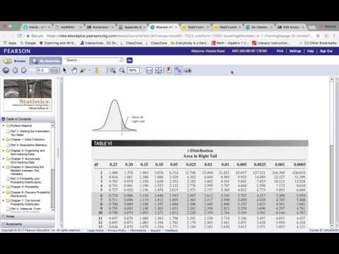How to find your t critical value on StatCrunch