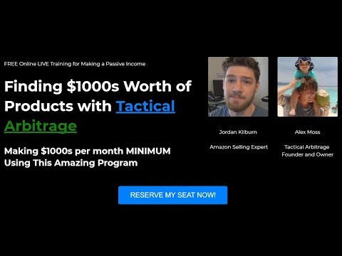 [Finding Products to Sell] Live Interview with Alex Moss, Creator of Tactical Arbitrage