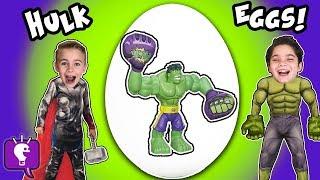 Biggest HULK EGGS! Dinosaur Dig + Surprise SMASH Toys Compilation Family Fun Reviews HobbyKidsTV