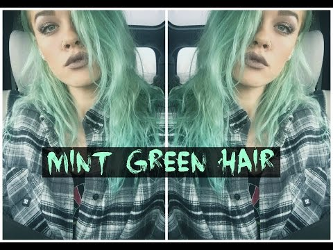 ♡ HOW TO: MINT GREEN HAIR | MELISSA MIXES