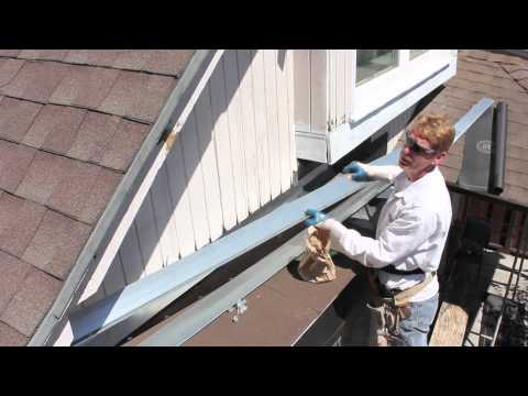 Installing roof to wall stucco flashing