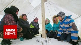 The classroom inside the Arctic Circle - BBC News