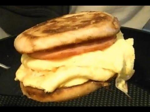 Easy Breakfast Sandwich Recipe - Ham, Egg, & Cheese