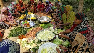 100 KG Fresh Vegetables & Rice Prepared By Village Women - Tasty Mixed Vegetables Rice Cooking