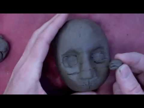 How to sculpt a face in clay part 1