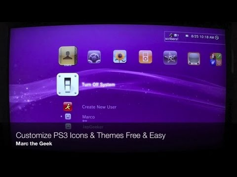 Customize PS3 Icons & Themes for Free & Easy
