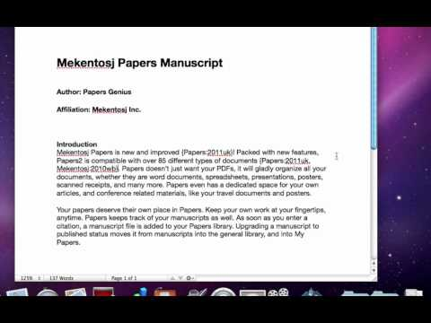 Papers Citations in Pages