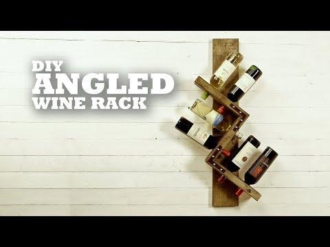 DIY Angled Wine Rack