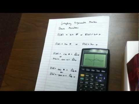 Graph the basic trigometric functions on the graphing calculator - 23