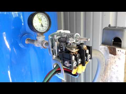 Well pump pressure gauge and switch