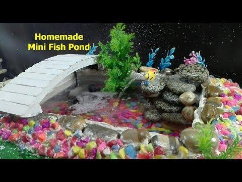 How to make Mini Fish Pond - Homemade Fish Pond.
