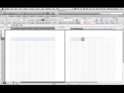Excel Mac double top border