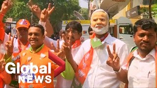 Celebrations Erupt In New Delhi As Modis Party Claims Victory In India Elections