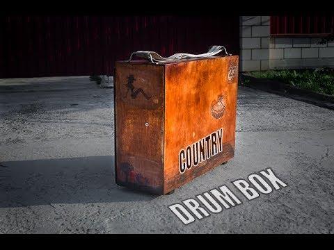 Country drum box: suitcase drum + cajon