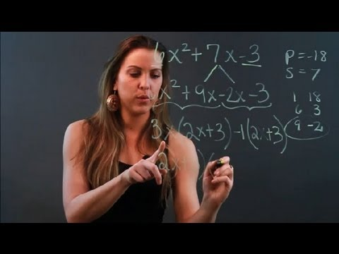 AC or Middle Term Splitting Method for Factoring Trinomials : Algebra Help