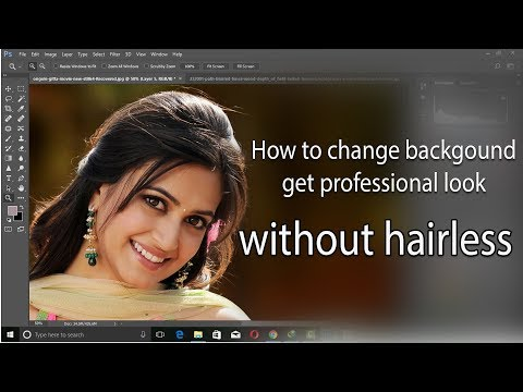 How to change professional photo background without hairless