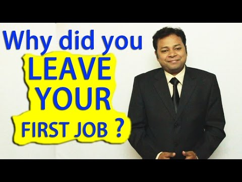 Why did you leave your last job? | How to answer this INTERVIEW Question