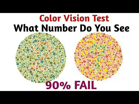 What number do you see ? - 90% Fail | Color Vision Test