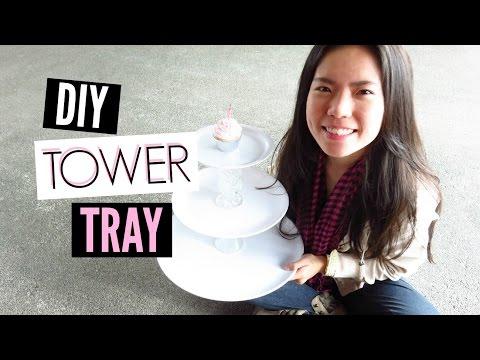 DIY Cupcake Stand or Cupcake Tower Tray