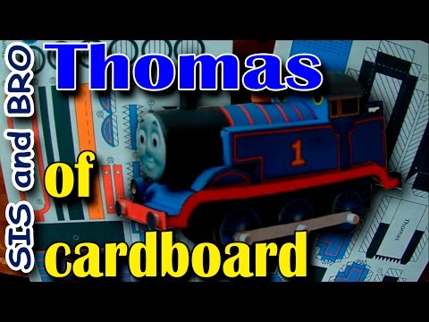 Thomas train of cardboard. Get free gift. Cardboard Models Trains Thomas and Friends. Step by step